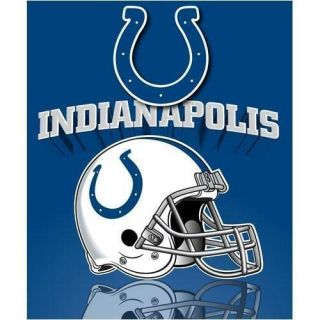 Indianapolis Colts NFL Football Fleece Blanket 50x60