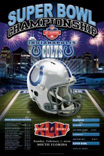 Indianapolis Colts Super Bowl XLIV AFC Champions Poster