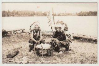 Ojibwa Indians in Northern Michigan RPPC Un NA101