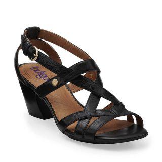 Indigo by Clarks Plush Cotton Womens Black Leather Comfort Strppy