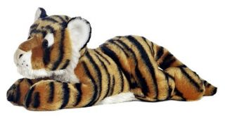 12 Aurora Plush Bengal Tiger Cat Indira Flopsie Stuffed Animal Toy