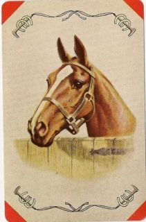 Swap Playing Cards 1 Single Horse Head Red Border