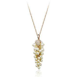 EUR € 12.41   diamanti austriaco adornano filo di perle Collana