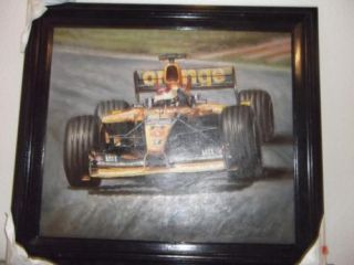 Indy Car Original Custom Framed Oil Painting