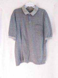 Mens Tasso Elba Short Sleeve Collared Golf Shirt Size Large