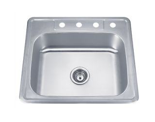 Sinks PL 960 25 Stainless Steel Top Mount Single Bowl Kitchen Sink