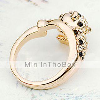 USD $ 5.49   Diamond Inlaid Leopard Ring, Gadgets