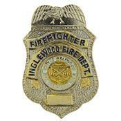 Inglewood Fire Department Firefighter Badge Pin