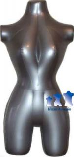 Inflatable Mannequin Female 3 4 Form Silver