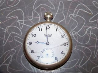 Vintage Ingersoll Reliance Mens Pocket Watch