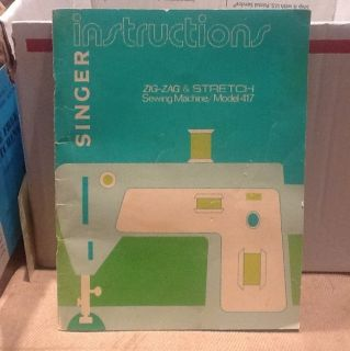 Singer Sewing Machine Instruction Manual Model 417 Owners Manual