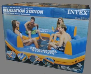 Large Inflatable Float Island Pool Caribbean Fun Raft