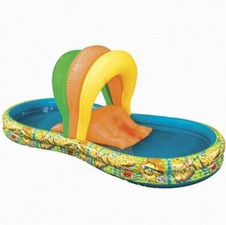 Double Slide Splash Inflatable Swimming Pool Water Arch