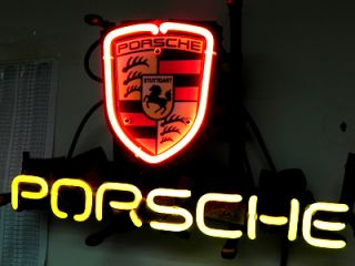 Porsche European Auto Beer Bar Neon Light Sign IF204