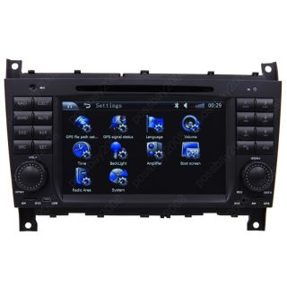 Benz C class W203 Car GPS Navigation AUX IPOD Radio TV DVD Player