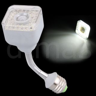 E27 IR Infrared Motion Sensor 39 LED White Light Bulb Lamp 3W