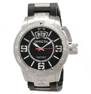 Invicta 10604 Corduba Black Dial Bracelet Big Date Swiss Quartz Watch