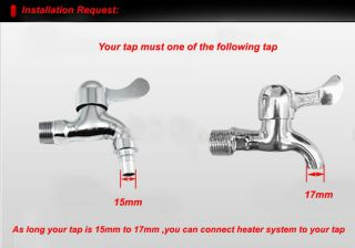 Electric Hot Water Heater System f tap Faucet  INSTANT HOT Water DT632
