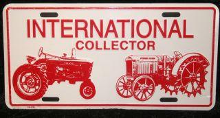INTERNATIONAL harvester license plate tractor tag ih deering collector