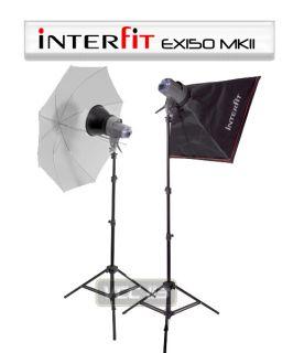 Interfit Home Studio EX150 2 Light Flash Kit