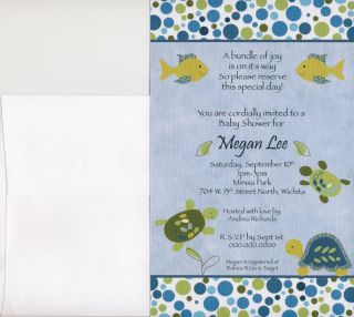 These adorable baby shower invitations match the CoCaLo Turtle