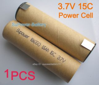 18650 Battery 3 7V 15c 1500mAh Li ion Power Cell Replace Power Tool