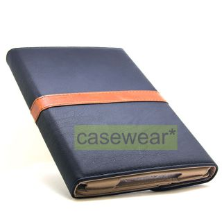Brown Deluxe Leather Folio Case Belt Stand for NEW iPad Mini Accessory