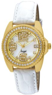 Invicta 1117 Womens Angel Crystal Accented Watch w Set of Seven Straps