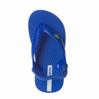 Ipanema Brasil Baby [21] Blue White Plastic Material Flip Flop Kids