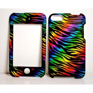 iPod Touch 2nd 3rd Gen Hard Case Cover Rainbow Zebra