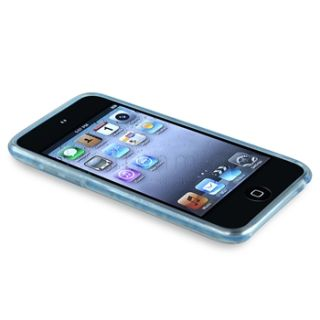 Blue Diamond Rubber Cover Case for iPod I Touch 4 G 4th