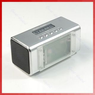 LCD FM Radio Music Player Speaker Micro SD/TF Card For MP3 ipod PC SL