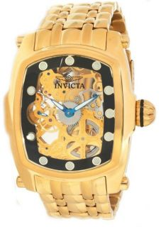 THIS IS A BRAND NEW INVICTA MENS LUPAH SKELETON GOLD TONE WATCH MODEL
