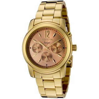 Ladies Invicta 0464 Angel SWISS18K Gold Plated Stainless Steel Watch