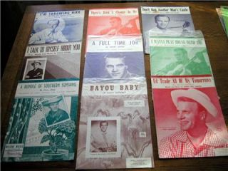 50s Eddy Arnold Hits Lot A Full Time Job Sheet Music