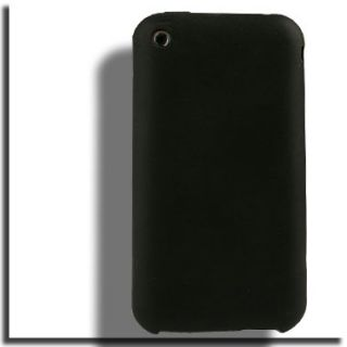 Silicone Case for Apple iPhone 3G s Black Cover Skin ATT 16GB 32GB G
