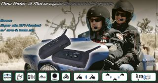 Bluetooth Motorcycle Helmet Intercom Headset Pillion Super Version