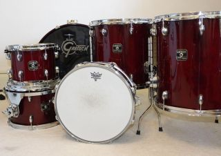 Gretsch Catalina Maple 6 Piece Drum Set Cherry Red Lightly Used