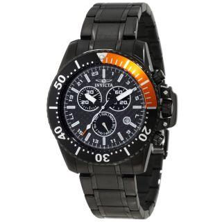 Invicta 11290 Mens Pro Diver Black Carbon Fiber Dial Black Plated