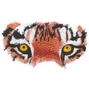 Epic Orange Tiger Tigers Big Cat Eyes Eye Iron on Patch