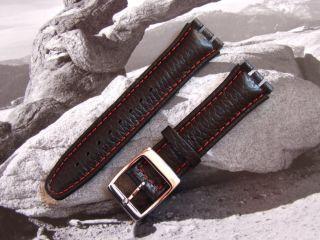 Cinturino Orologio Compatibile Swatch Irony Chrono in Vera Pelle 19mm