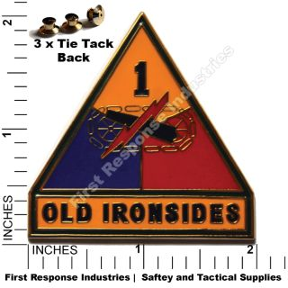 1st Armored Divsion Old Ironsides Army Combat Service Badge Csib Pin