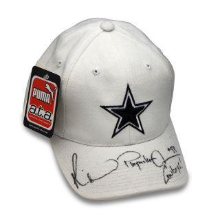 Michael Irvin Signed Auto NFL Dallas Cowboy Hat JSA HOF