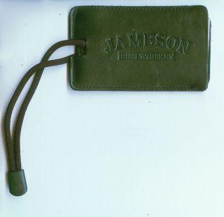 Jameson Irish Whiskey Black Leather Luggage Tag