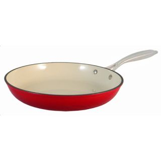 Le Chef Enamel Light Cast Iron Red Fry Pan 11 inch on Sale