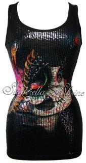 Iron Fist Gypsy Dreams Black Sexy Sequin Tank Top Mini Clubbing Dress