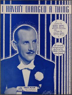CHANGED A THING Sheet Music LARRY CLINTON 1938 Nemo Mills Goldsen