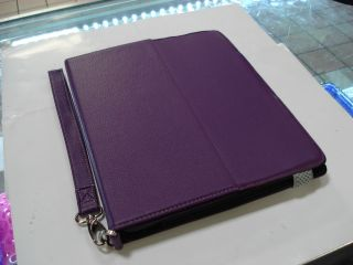 iPad 1st Gen Purple Leather Case Adjustable Stand