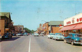 MI Iron River Genesee Street Red Owl Hotel Maild 1963 K50361