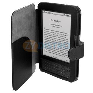 PU Leather Skin Case Cover Wallet Pouch for  Kindle Keyboard 3G